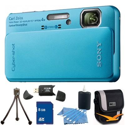 Cyber-shot DSC-TX10 Blue Digital Camera 8GB Bundle