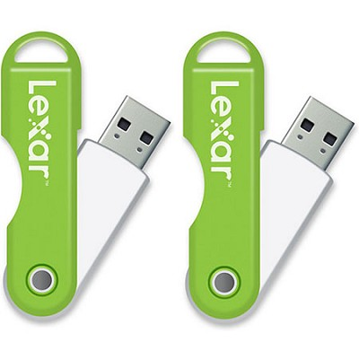 JumpDrive TwistTurn 16 GB High Speed USB Flash Drive 2-Pack