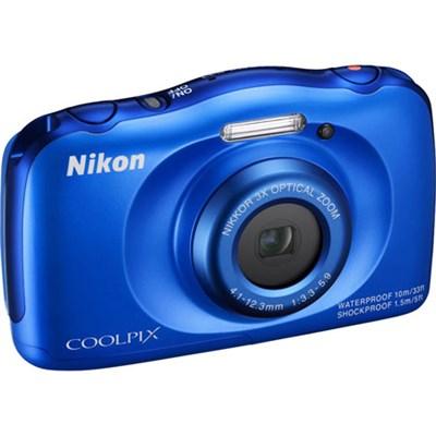COOLPIX S33 13.2MP Waterproof Digital Camera - Blue (Certified Refurbished)