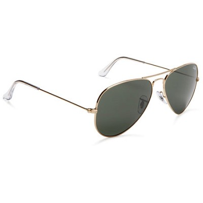 Aviator Large Metal Sunglasses Gold 58mm - OPEN BOX