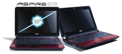 Aspire one 10.1` Netbook PC - Ruby Red (AOD250-1325)