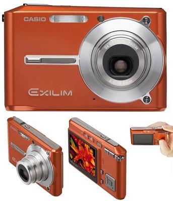 Exilim EX-S500 SUPER Slim Digital Camera (Orange)