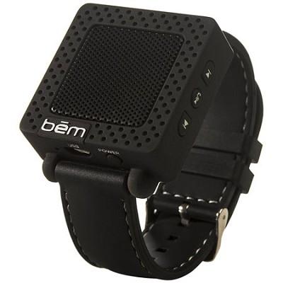 Band Bluetooth Wrist Speaker Watch (Black) - BEMSWBK