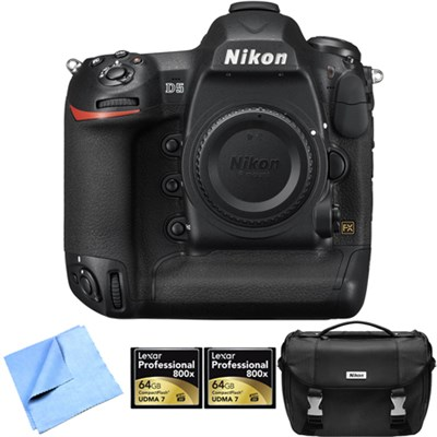 D5 20.8MP FX-Format Digital SLR Camera Dual XQD, 64GB Memory Card 2-Pack Bundle