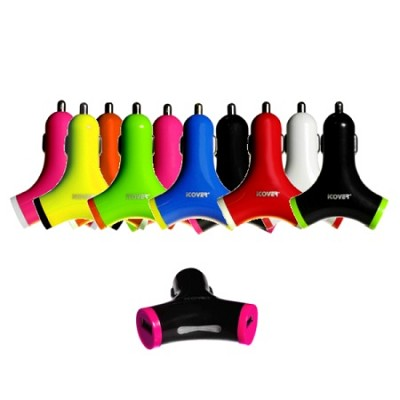 2-Port USB Car Charger with 2.1 Amp - Color May Vary