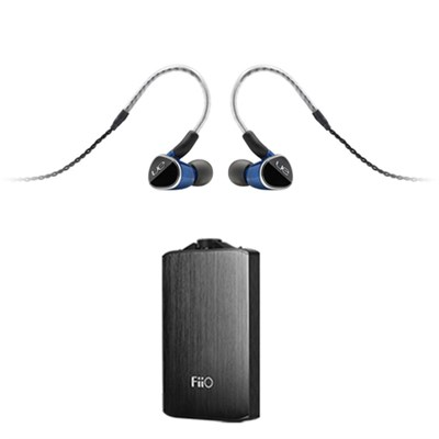 Universal Fit Earphones w/ FiiO A3 Portable Headphone Amplifier (Black)