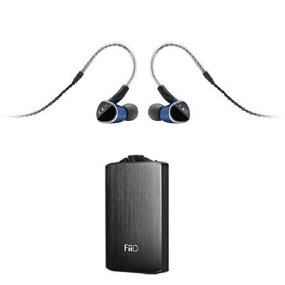 Universal Fit Earphones w/ FiiO A3 Portable Headphone Amplifier (Black)