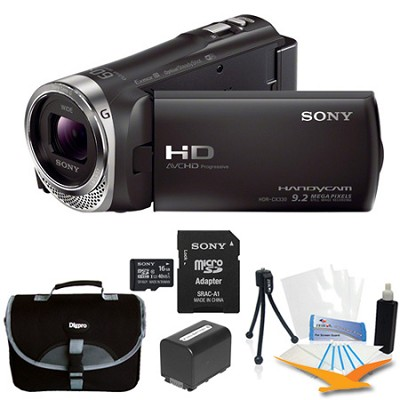 HDR-CX330/B Entry Level Full HD 60p Camcorder Kit