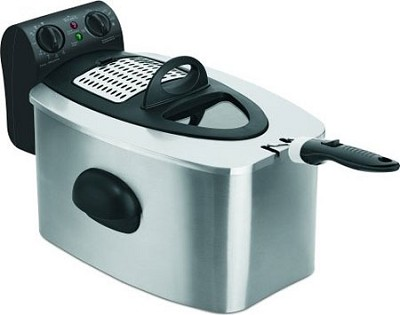 Stainless-Steel 4-1/2-Liter Cool-Zone Fryer open box