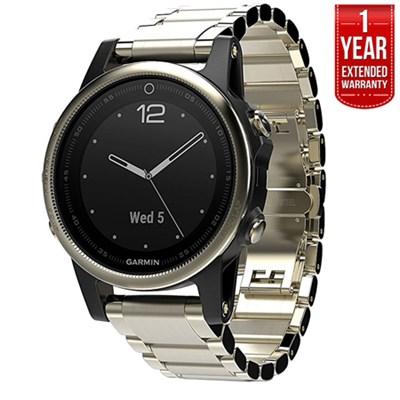Fenix 5S Sapphire Multisport GPS Watch Champagne, Metal +1Year Extended Warranty