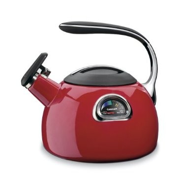 PerfecTemp Porcelain Enameled Teakettle - Red