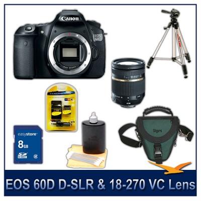 EOS 60D 18 Megapixel SLR Digital Camera Kit With Tamron 18-270 VC Lens