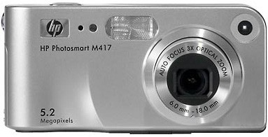 Photosmart M417 - 5.2 MP Digital Camera with HP Instant Share