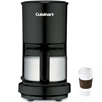 DCC-450 4-Cup Coffeemaker with Stainless-Steel Carafe + Copco To Go Cup Bundle