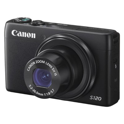 PowerShot S120 12.1MP Digital Camera - Black - OPEN BOX