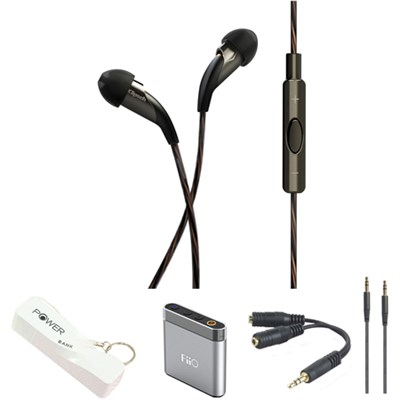X20i Earbuds with Mic & Playlist Control For Apple With Fiio Amplifier & Accy's
