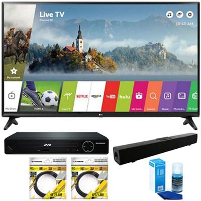 49` Class Full HD 1080p Smart LED TV 2017 Model + Sound Bar+DVD Player Bundle