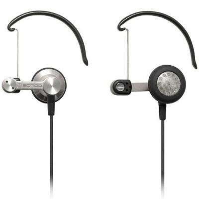 Ear-bud/clip-on hybrid dynamic headphones