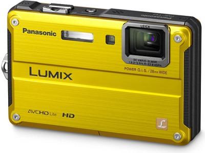 LUMIX 14.1MP Water, Shock, & Freezeproof Digital Camera (Yellow) - OPEN BOX