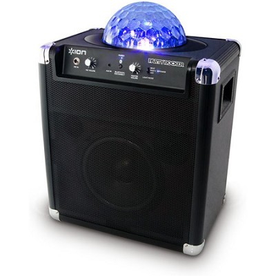 Party Rocker Bluetooth Portable Sound Syst WMic. Built-In Light Show - OPEN BOX