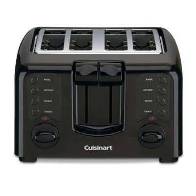 CPT-142 Compact 4-Slice Toaster (Black) - Factory Refurbished