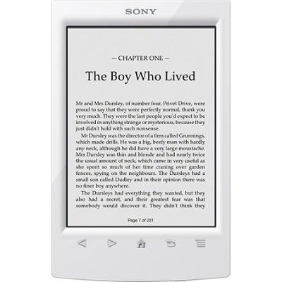 PRS-T2WC 6 inch Touchscreen WiFi eReader - White