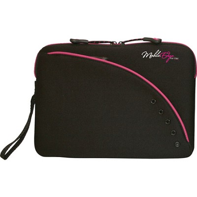 Ultra Portable SlipSuit 9` iPad 2 Neoprene Sleeve (Black/Pink Trim)