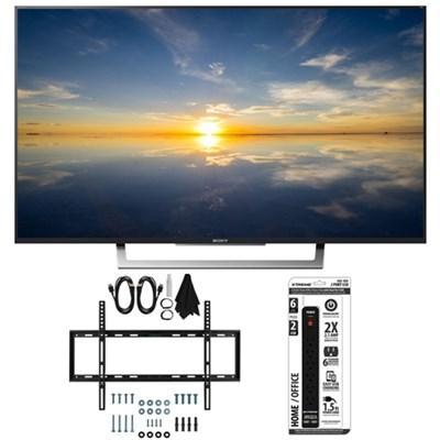 XBR-49X800D - 49` Class 4K HDR Ultra HD TV w/ Slim Flat Wall Mount Bundle