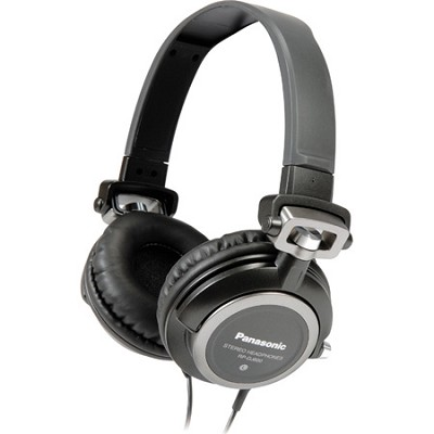RP-DJ600 DJ Style Headphones with Compact Carrying Pouch