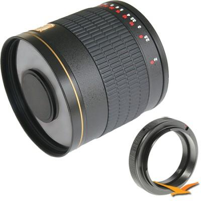 800mm F8.0 Mirror Lens for Nikon (Black Body) - 800M-B
