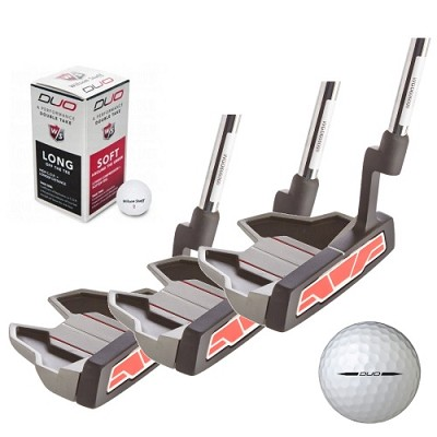 5 Piece Set: 3 Harmonized Pro-Putters & 2 Free Wilson Golf Balls