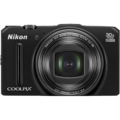 COOLPIX S9700 16MP HD 1080p 30x Opt Zoom Digital Camera - Black