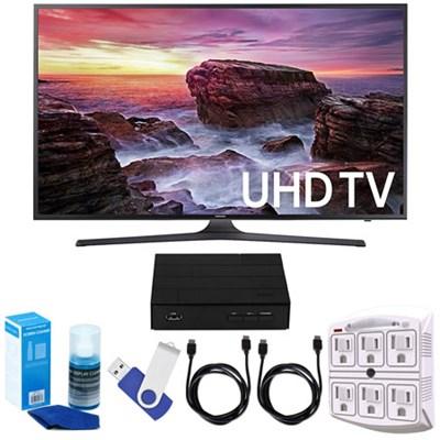 UN55MU6290FXZA 54.6` LED 4K UHD Smart TV (2017 Model) w/ TV Tuner Bundle