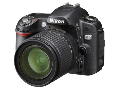D80 DSLR Camera Outfit w/ 18-55mm VR Zoom Lens