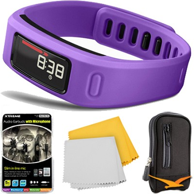 Vivofit Bluetooth Fitness Band Plus Accessory Bundle (Purple)(010-01225-02)