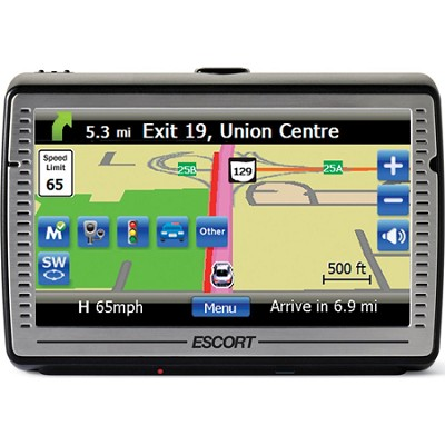 Passport iQ 5` Widescreen Portable GPS Navigator with Radar/Laser Detector