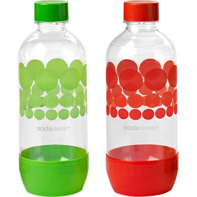 1L Carbonating Bottles Green/Red (Twinpack)