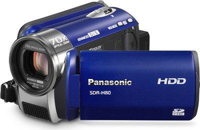 SDR-H80A Camcorder with 70X Zoom & 60GB HDD (Blue) - REFURBISHED