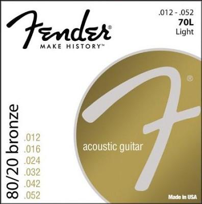 073-0070-403 80/20 Bronze Acoustic Guitar Strings, Light
