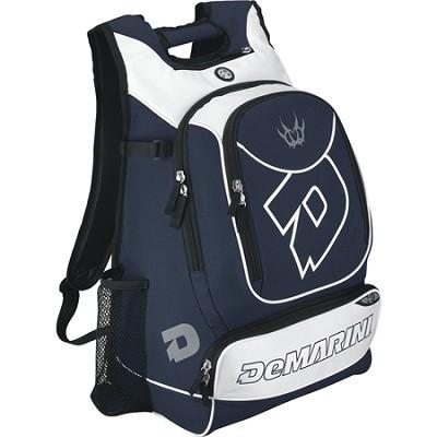 Vexxum Backpack Baseball Gear Bag - Navy/White