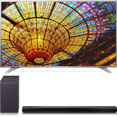 55UH6550 55-Inch 4K UHD Smart TV Bundle w/ SH5B 2.1ch 320W Sound Bar + Subwoofer