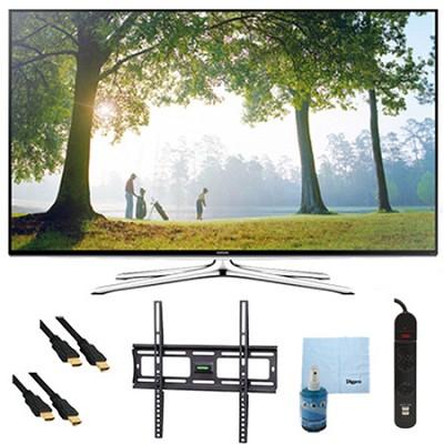 UN50H6350 - 50` HD 1080p Smart HDTV 120Hz with Wi-Fi Plus Mount & Hook-Up Bundle