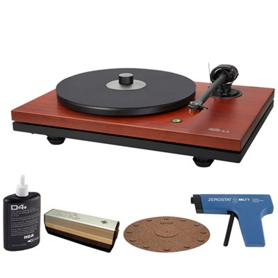 2-Speed Belt Driven Rosenut Turntable w/Cartridge + Record Cleaner Kit