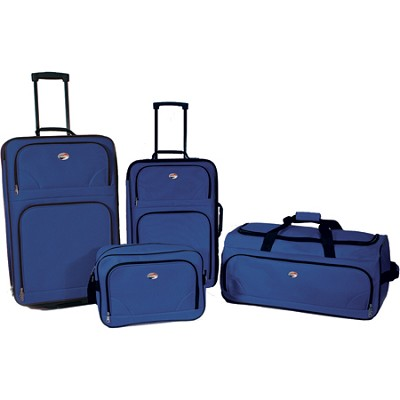 4 Piece Ultra Lightweight  Luggage Set (BB/WDFL/UP21/25) - Blue