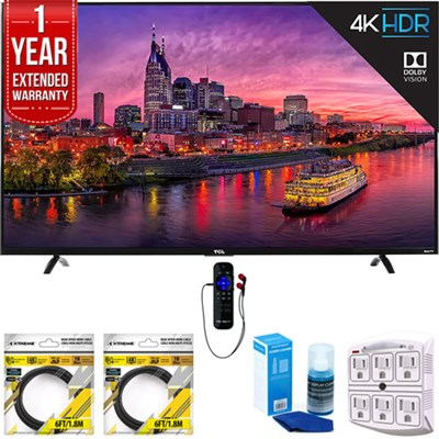 55` 4K Ultra HD Roku Smart LED TV w/ WiFi 2017 with 1 Year Extended Warranty
