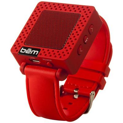 Band Bluetooth Wrist Speaker Watch (Red) - BEMSWR