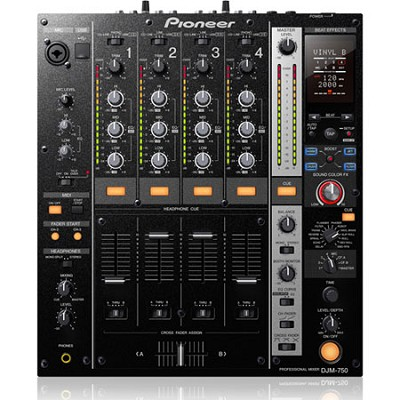 4 Channel USB DJ Mixer with Boost Color FX - Black