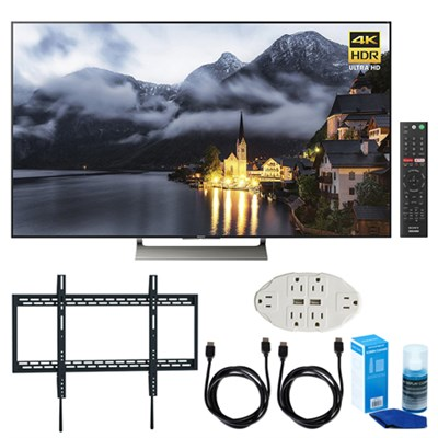 65-inch 4K HDR Ultra HD Smart LED TV (2017 Model) w/ TV Mount Bundle