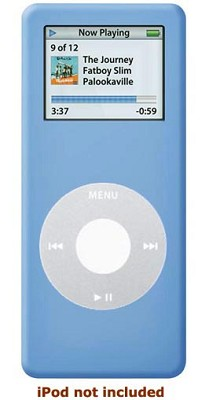 Protective silicone skin for iPod nano (Blue) w/ Armband