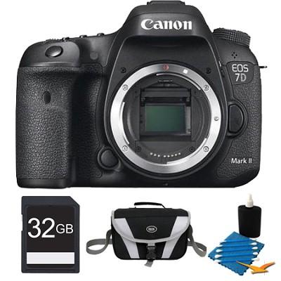 EOS 7D Mark II 20.2MP HD 1080p Digital SLR Camera Body 32GB Bundle